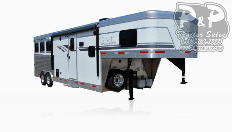 2020 SMC Horse Trailers SL8X10FK LARAMIE 3 Horse Slant Load Trailer 10 FT LQ
