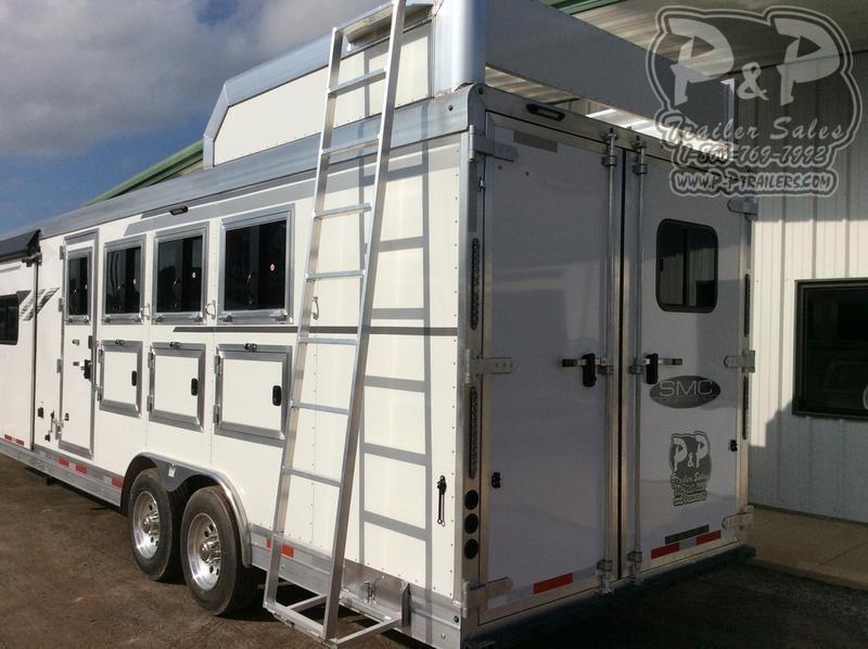 2020 SMC Horse Trailers SL8413SSR 4 Horse Slant Load Trailer 13 FT LQ With Slides