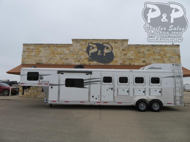 2021 Lakota Charger C411 4 Horse Slant Load Trailer 11 FT LQ With Slides