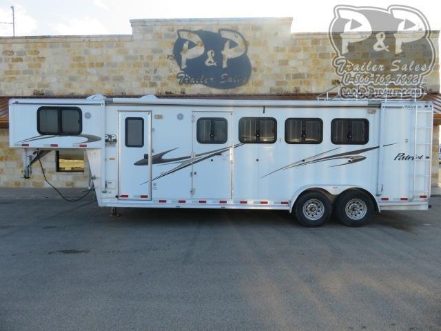 2010 Silver Lite 7406 4 Horse Slant Load Trailer 6 FT LQ