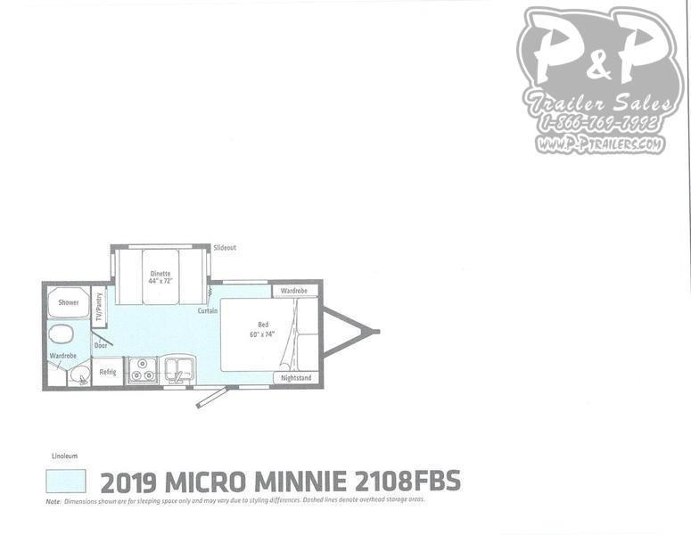 2019 Winnebago Micro Minnie 2108FBS 22.42 ft Travel Trailer RV