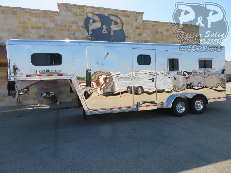 2020 Bloomer B2+1GS227 2 Horse Straight Load Trailer w/ Ramps