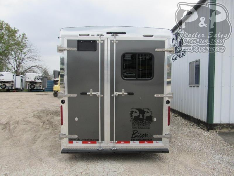 2020 Bison Trailers 3 Horse 9 Shortwall w/Slide-Out 3 Horse Slant Load Trailer LQ With Slides