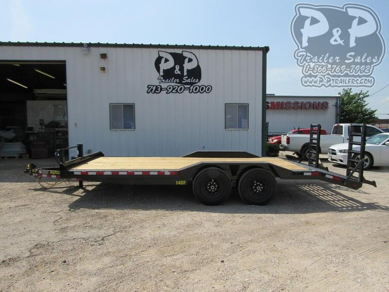 2019 Big Tex Trailers 14DF-20BK 20 ft Flatbed Trailer