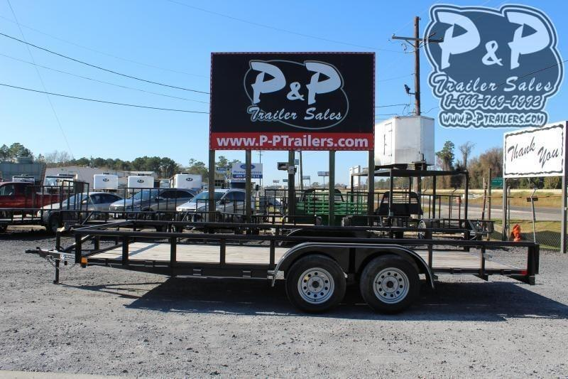 2019 P and P PPTA18X83GDSRPT 18 ft Utility Trailer