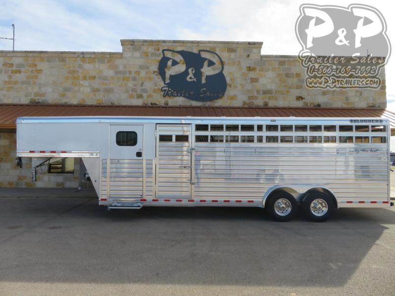 2020 Bloomer 24' Stock 2 Horse Slant Load Trailer