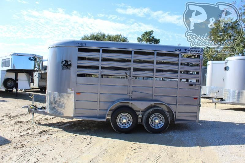 "2020 CM 14x6x6'6"" 14 ft Livestock Trailer"