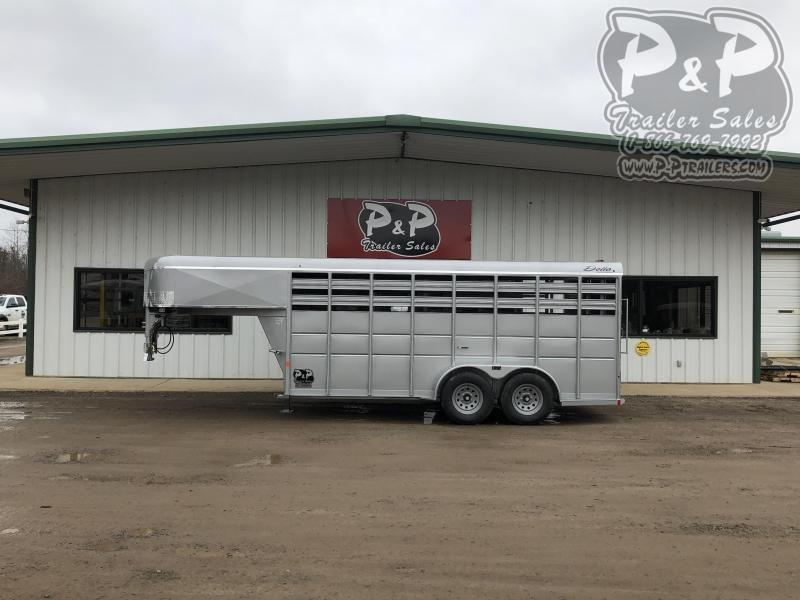 2020 Delta Manufacturing 500GN16 16 ft Livestock Trailer