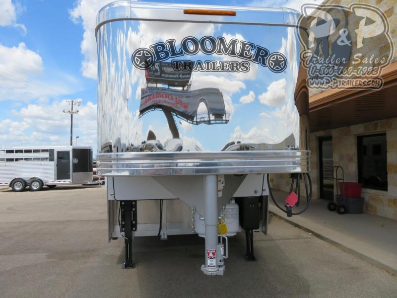 2020 Bloomer 8417PCOL 4 Horse Slant Load Trailer 17 FT LQ With Slides w/ Ramps