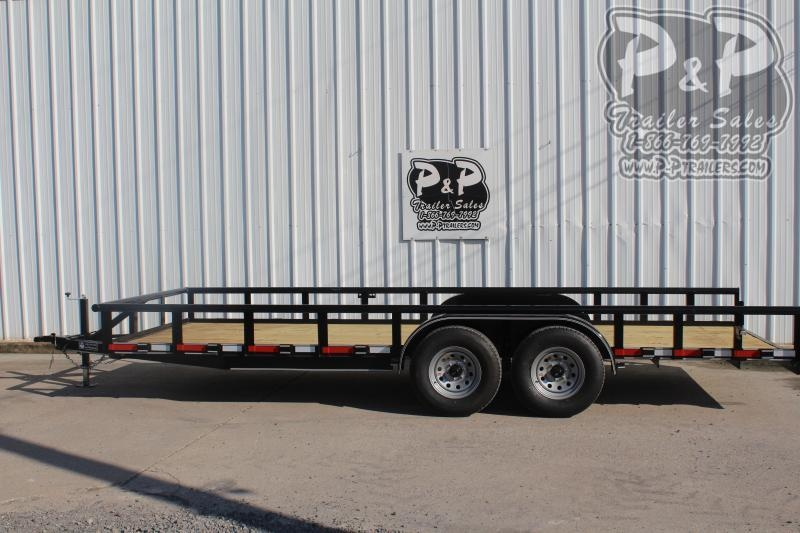 2020 P and P PPTA20x83MDSRPT 20 ft Utility Trailer