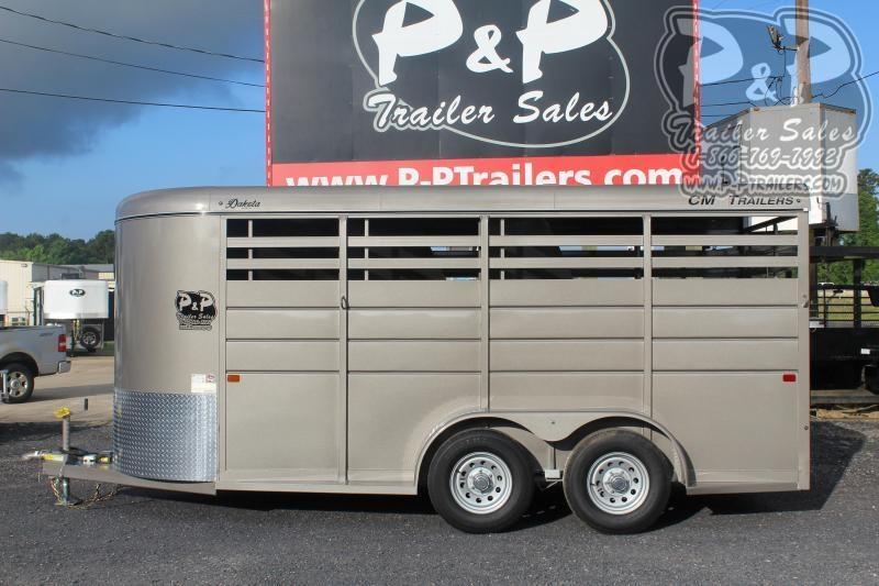 2020 CM Dakota CMH0833-1600235 Dakota 3 Horse Slant Load Trailer