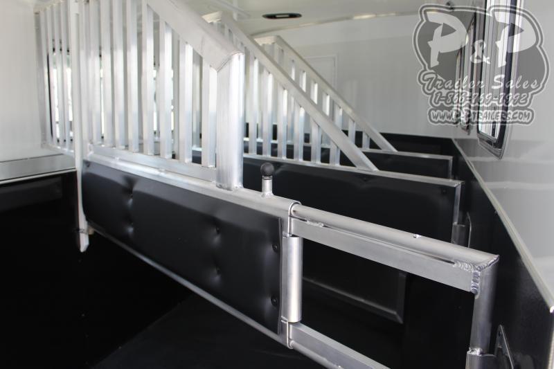 2020 Bison Trailers Ranger 8414RGLRSL 4 Horse Slant Load Trailer 14 LQ With Slides w/ Ramps