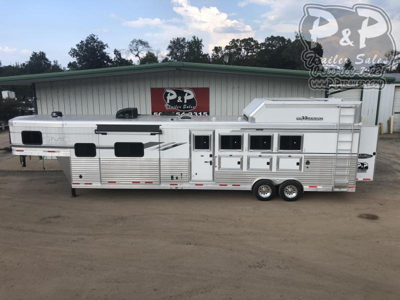 2019 SMC Horse Trailers SL8413SSRRSL 4 Horse Slant Load Trailer LQ With Slides w/ Ramps