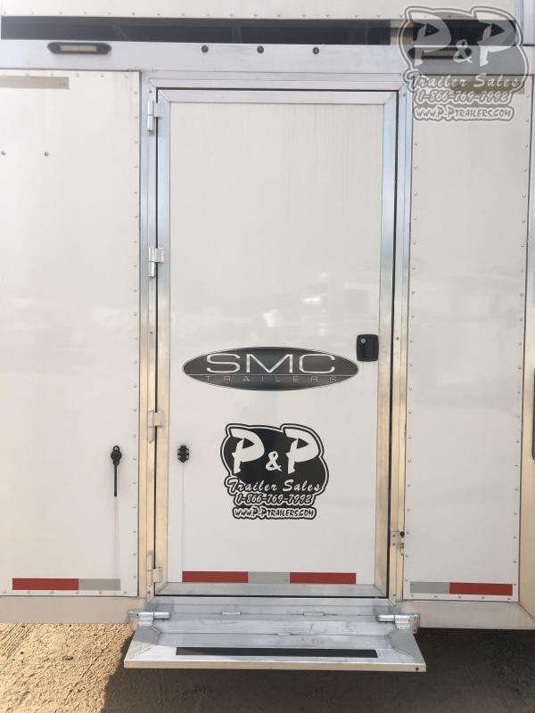 2019 SMC Horse Trailers SL8413SSRRSL 4 Horse Slant Load Trailer LQ With Slides w/ Ramps