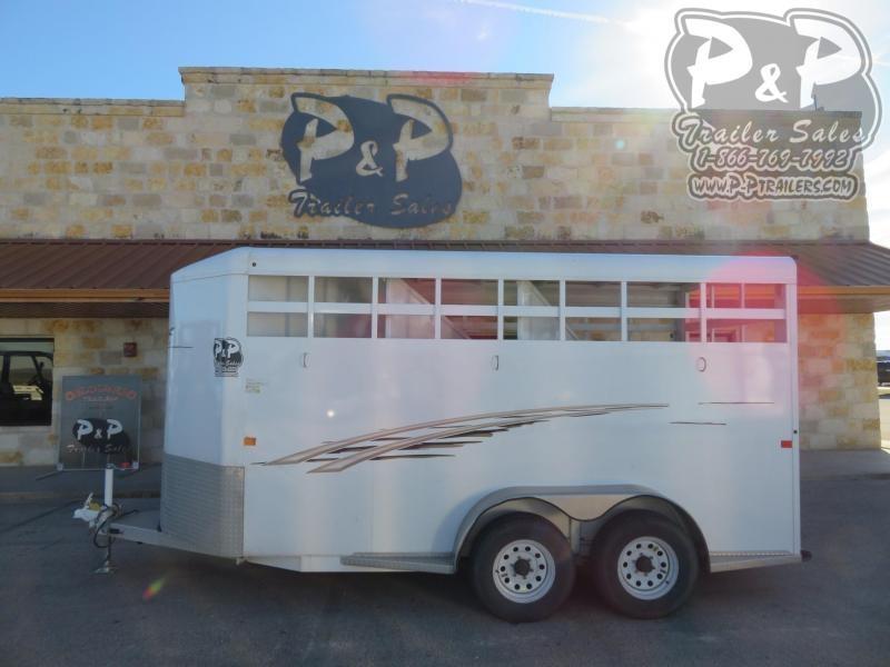 2018 Trails West Manufacturing 3HBP 3 Horse Slant Load Trailer