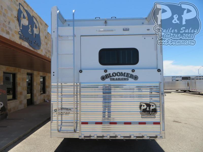 2019 Bloomer 87TRNS 7 Horse Trailer Slant