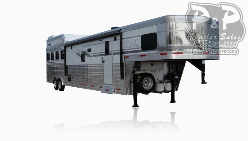 2020 SMC Horse Trailers SL8X16SSR LARAMIE 3 Horse Slant Load Trailer 16 FT LQ With Slides