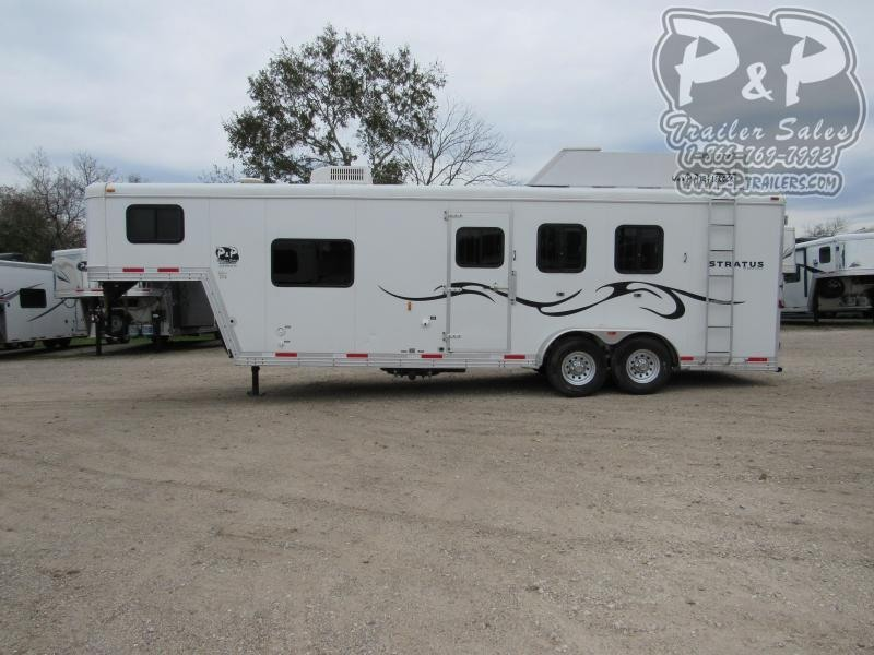 2013 Bison Trailers 380ML 3 Horse Slant Load Trailer 8 FT LQ