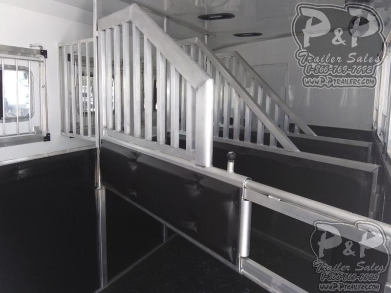 2020 Bison Trailers Laredo 8416LDSSRSL 4 Horse Slant Load Trailer 0 FT LQ With Slides w/ Ramps