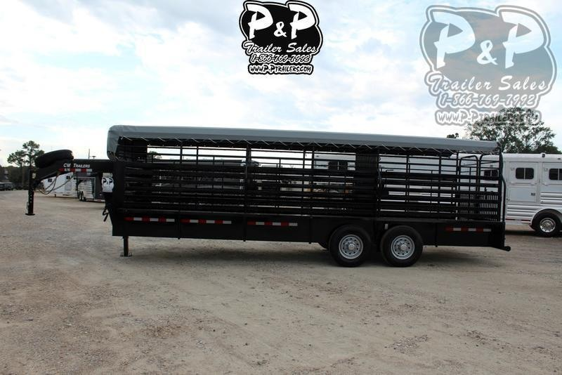 "2020 CM Brush Buster BT 24 ft. 6' 8"" W x 6' 6"" T 24 ft Livestock Trailer"