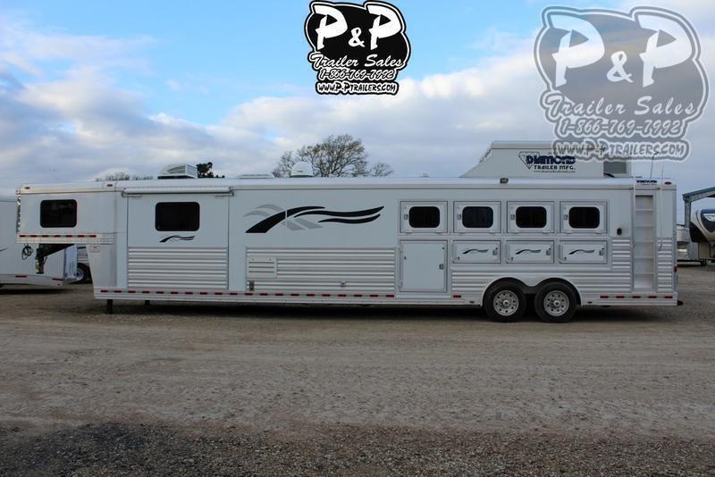 2008 Diamond Trailers 8419 4 Horse Trailer 19 LQ With Slides Slant