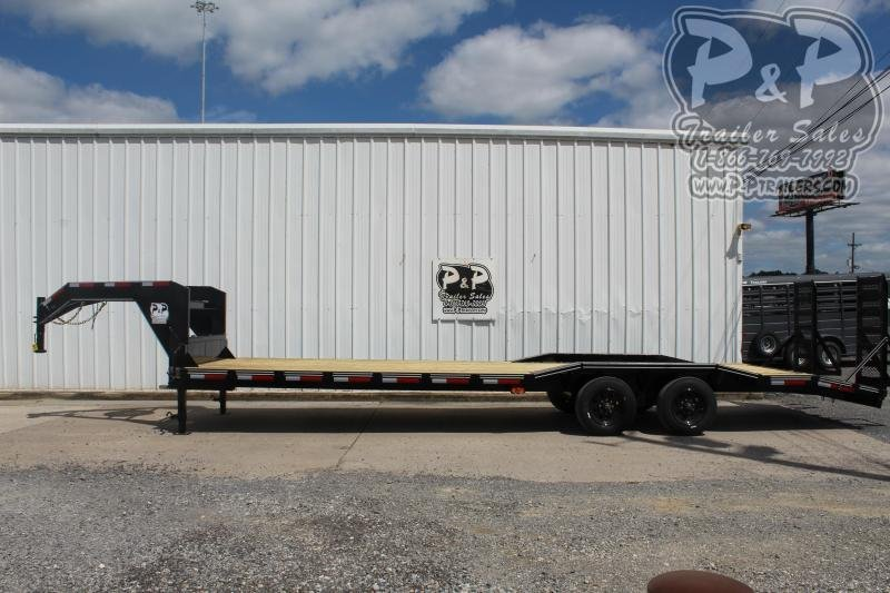 """2020 P and P PPGNEQ30X102HDFUR10K *** 30' (27+3) X 102"""" Drive Over Fender*** Flatbed Trailer"""