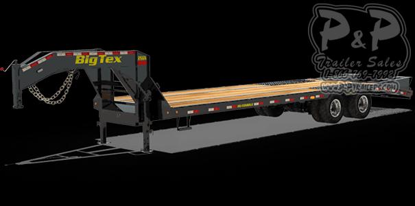 2020 Big Tex Trailers 25GN-25BK+5MR 30 ft Flatbed Trailer