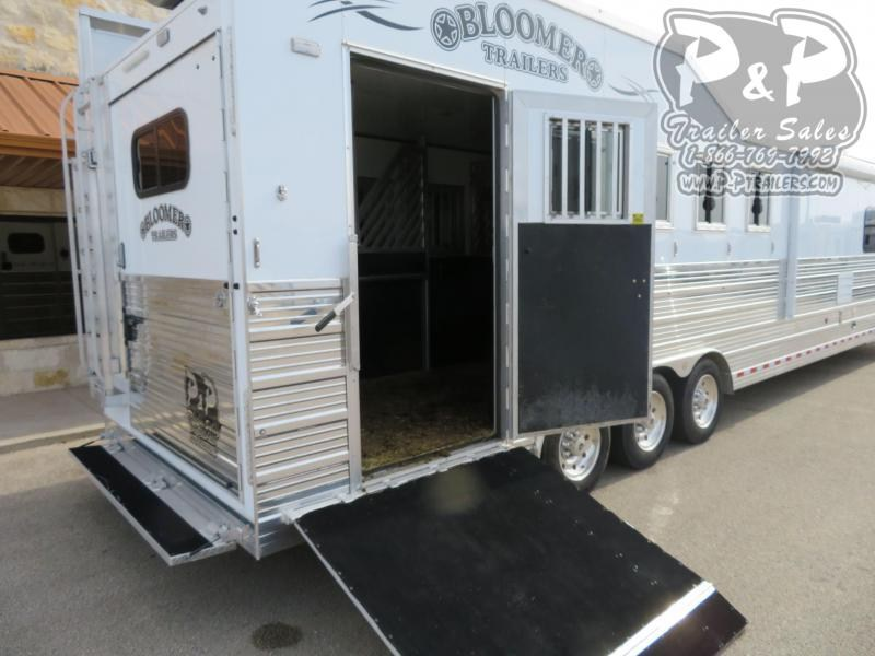 "2018 Bloomer PC Load Trail Boss 5 Horse Slant Load Trailer 15' 10"" FT LQ With Slides w/ Ramps"