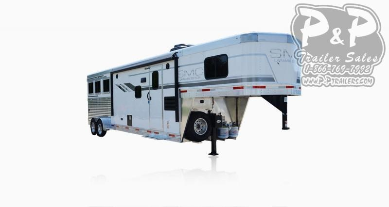 2020 SMC Horse Trailers SLX11SRK LARAMIE 3 Horse Slant Load Trailer 11 FT LQ With Slides