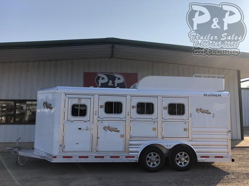 2020 Platinum Coach 84BP 4 Horse Slant Load Trailer