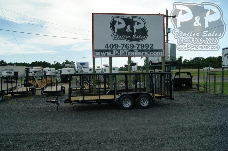 2020 P and P 83x16Landscape 16 in Utility Trailer