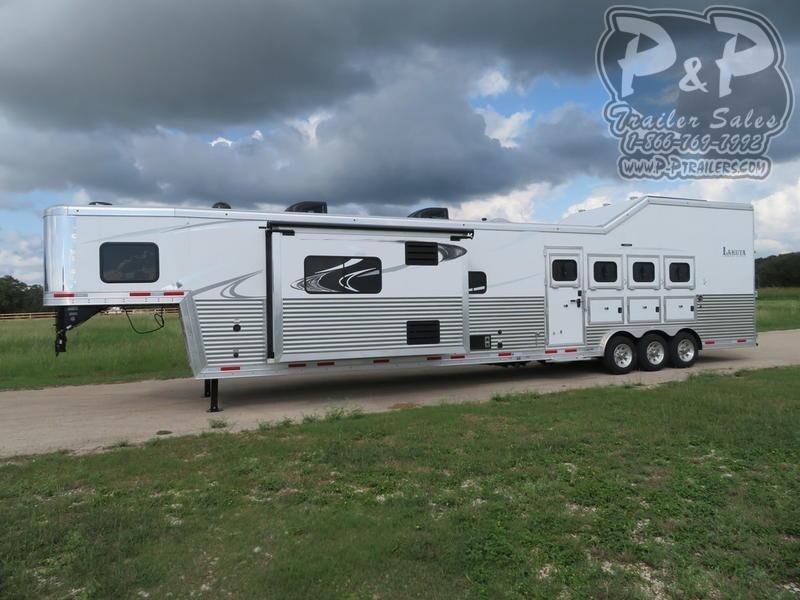 2020 Lakota Bighorn BH8419 4 Horse Slant Load Trailer 19 FT LQ With Slides w/ Ramps