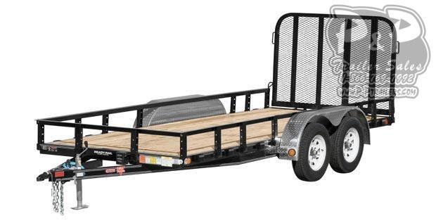2020 PJ Trailers 72 in. Tandem Axle Channel Utility (UJ) Utility Trailer