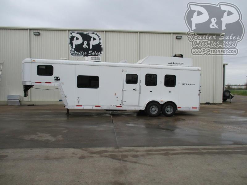 2012 Bison Trailers Stratus 380ML 3 Horse Slant Load Trailer 8 FT LQ w/ Ramps