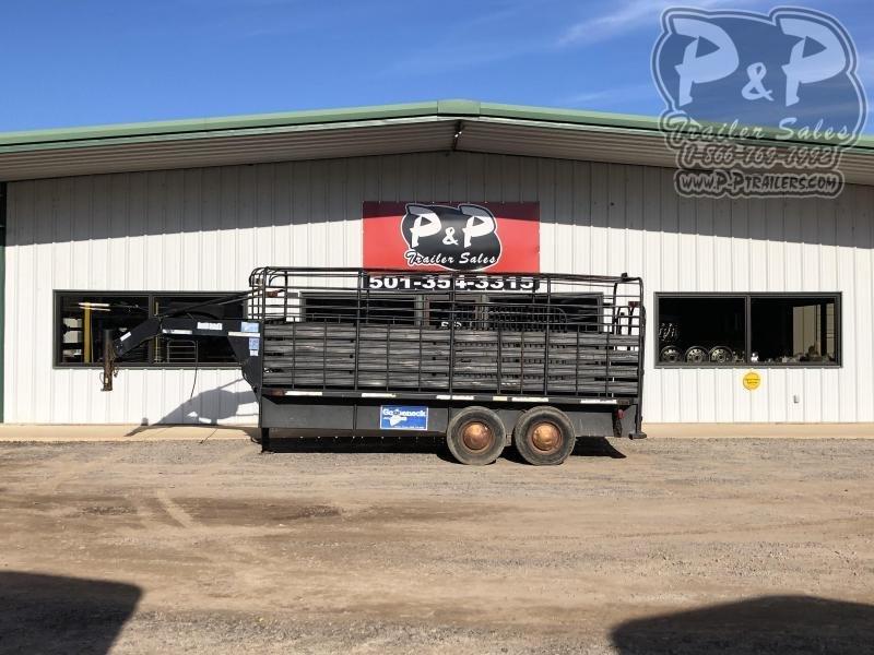 1999 Gooseneck 6X16 16 ft Livestock Trailer