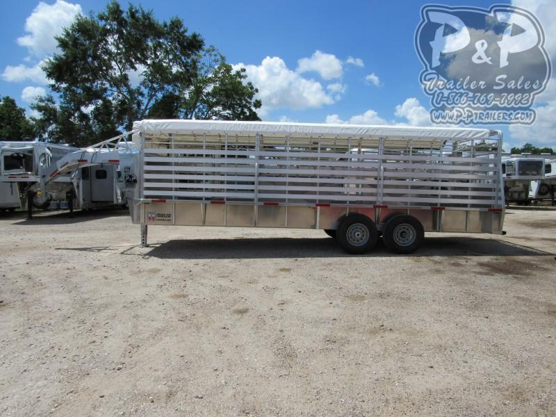 2020 W-W Trailer 24x6.8 24 ft Livestock Trailer