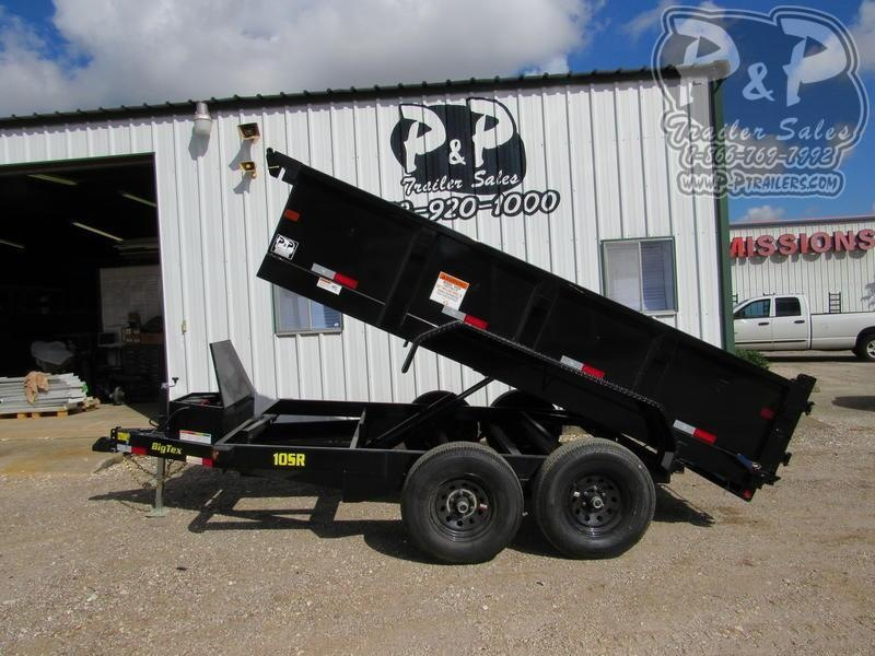 2019 Big Tex Trailers 10SR-12XLBK7S 12 ft Dump Trailer