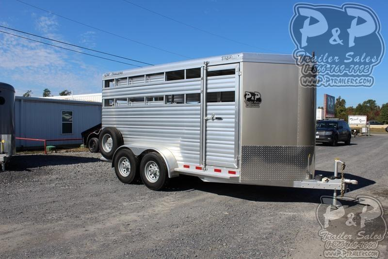 2019 CM Stocker AL-V 16 ft. 6 8 W x 7' T Livestock Trailer