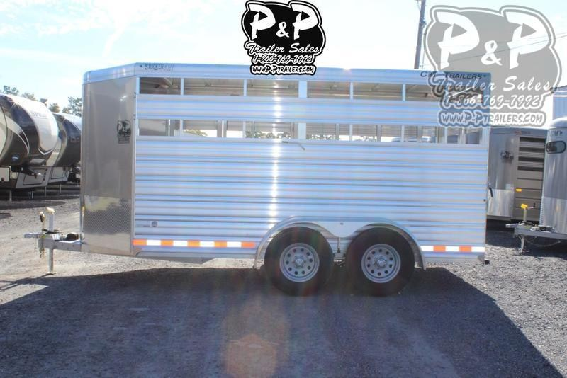 2020 CM Stocker AL-V 16 ft. 6 8 W x 7' T Livestock Trailer