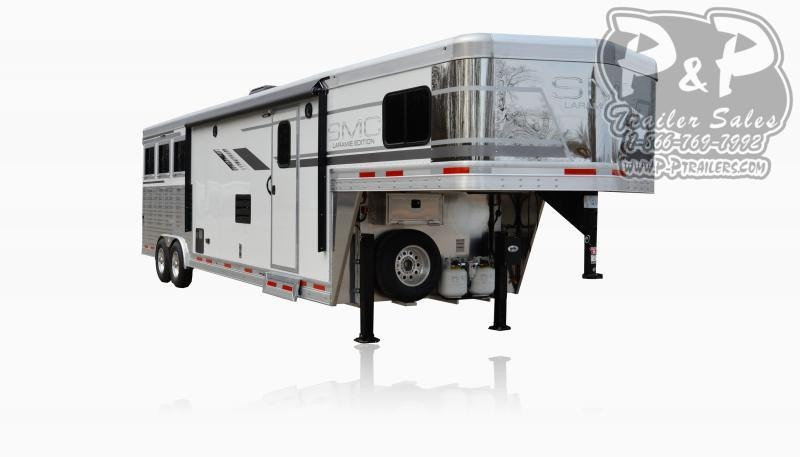 2020 SMC Horse Trailers SL8X12SR LARAMIE 3 Horse Slant Load Trailer 12 FT LQ With Slides