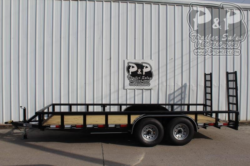 2019 P and P PPTA18X83GDFURPT 18 ft Utility Trailer