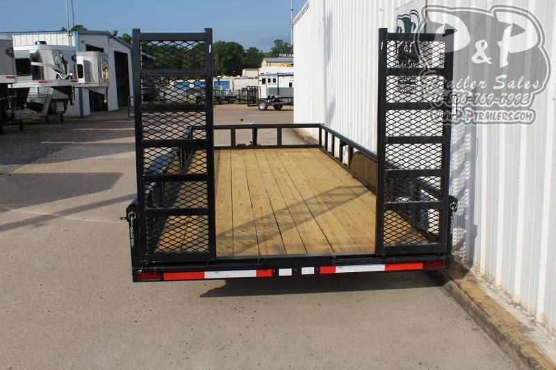 2020 P and P PPTA18X83GDFURPT 18 ft Utility Trailer