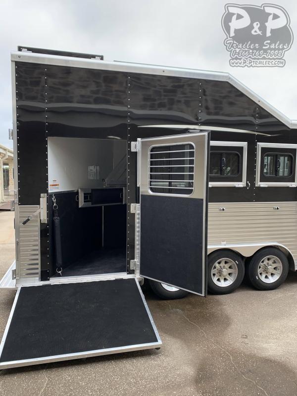 2020 Lakota Bighorn BH8418TCERSL 4 Horse Slant Load Trailer 18 FT LQ With Slides w/ Ramps