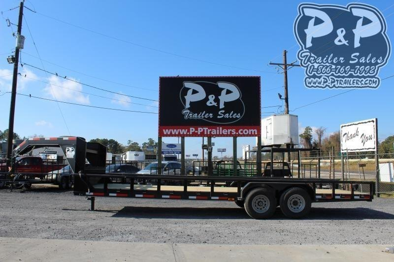 2020 P and P PPLB24X83HDSRPT 24 ft Flatbed Trailer