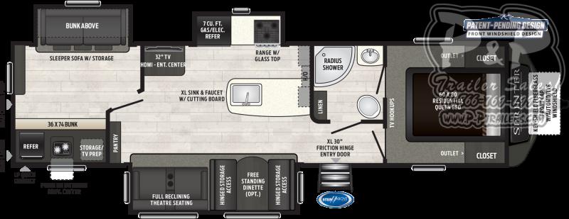 2019 Keystone Sprinter LIMITED 325BMK 36.75 ft Travel Trailer RV