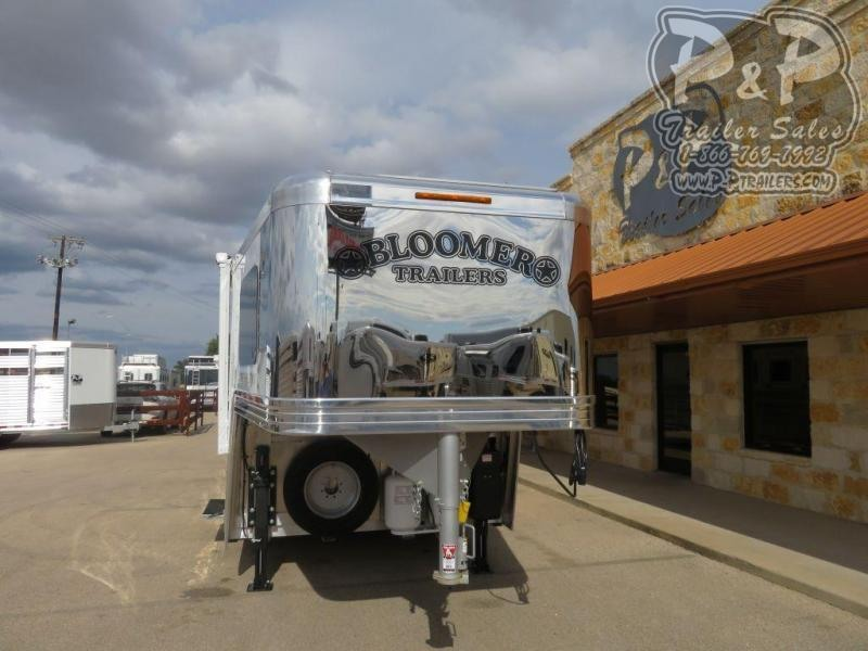 "2020 Bloomer PC Load Outlaw Conversions 4 Horse Slant Load Trailer 13' 2"" FT LQ With Slides w/ Ramps"