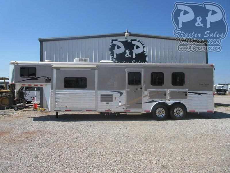 2012 Bison Trailers 8312 Trails Express 3 Horse Slant Load Trailer 0 FT LQ With Slides