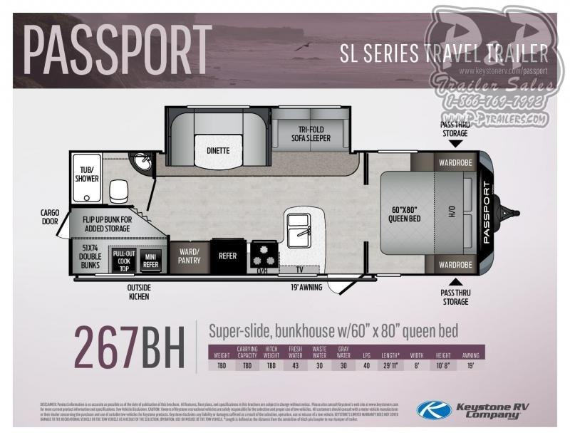 "2020 Springdale Passport 267BH 30' 6"" ft Travel Trailer RV"