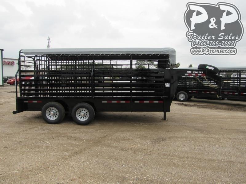 2020 CM Brush Buster 16x6.8x6.6 16 ft Livestock Trailer