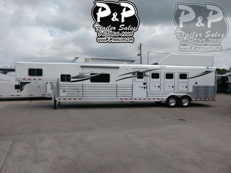 2018 4-Star Trailers 8415OLPLPC Outlaw Conversion 4 Horse Slant Load Trailer 15.33 FT LQ With Slides w/ Ramps